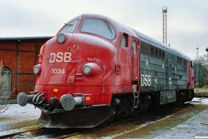 DSB MX 1034. Esbjerg 15.01.1991.