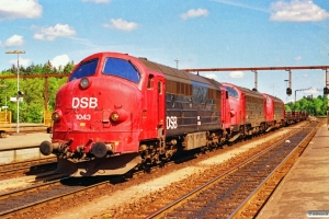 DSB MX 1043+MY 1125+MY 1149 rangerer med G 8941 Kd-Fa. Fredericia 24.05.1991.