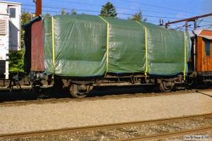 DSB S 3. Vognkassen læsset på ex. GS 42584. Kolding 12.10.2003.