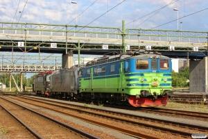 NR Ma 876, CFLS 119 001 og SJ Rc3 1051. Göteborg Skandiahamnen 08.06.2014.