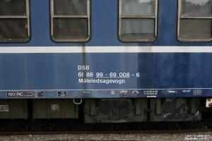 DSB Måleledsagevogn 61 86 99-69 008-6. Vojens 11.07.2009.