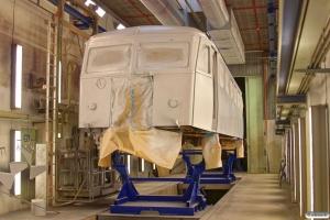 HBS Sm 210 i malerkabinen. Bombardier, Randers 23.08.2014.