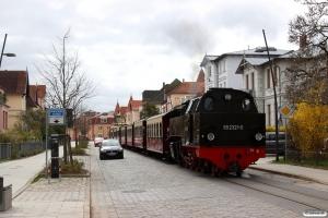 MBB 99 9321-0 med MBB 14620. Bad Doberan Goethestrasse 10.04.2017.