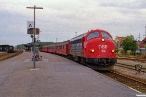 DSB MY 1105+BD 029+B 332+B 520+A 021 som PP 8437 Kh-Ge. Nykøbing F. 16.09.2000.
