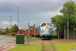 DSB MY 1126+A 021+BD 029+B 520 på havnebanen. Randers 23.08.2014.