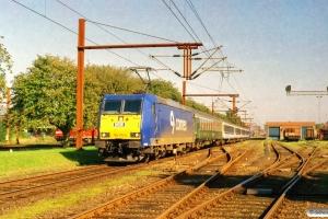 NOB 185 515-4+ABm+Eomdz+Eomdz+Tomz+Tomz+185 516-2 som DPF 88175 Pa-Hamburg Hbf. Padborg 18.08.2005.