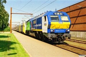 NOB DE 2700-09+ES 64 U2-035+ABm+Eomdz+BEomz+Tomz+Tomz+Tybdzf som DPF 88179 Pa-Hamburg Hbf. Padborg 18.08.2005.