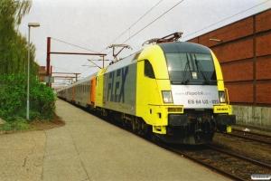 NNVG ES 64 U2-023+ABv-AR+Bo+Bo+Bo+Bo som DFR 84129 Pa-Hamburg Hbf. Padborg 25.04.2003.