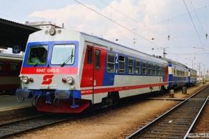 ÖBB 5047 040-0+5046 203-5+6546 202-0 som Tog 6551. Wiener Neustadt 13.04.1991.