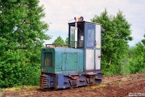 Lok 106 (Pedershåb Maskinfabrik 1950). Lille Vildmose 22.06.1995.