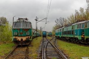 PKPC ET22-216, ET22-859, ET22-559, ET 22-362 og ET22-626 hensat. Poznań Franowo 12.04.2017.