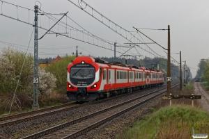 PLKW EN57-1062+EN57-1502 som KW 79950. Kobylnica 12.04.2017.