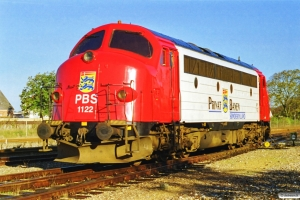 PBS MY 1122 afsporet på forreste aksel under rangering med GX 8926 Tdr-Rb. Ribe 16.10.1997.
