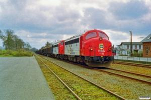 PBS MY 1122+MY 1132+15 Snps som GX 8659 Tdr-Str. Skærbæk 13.04.1998.