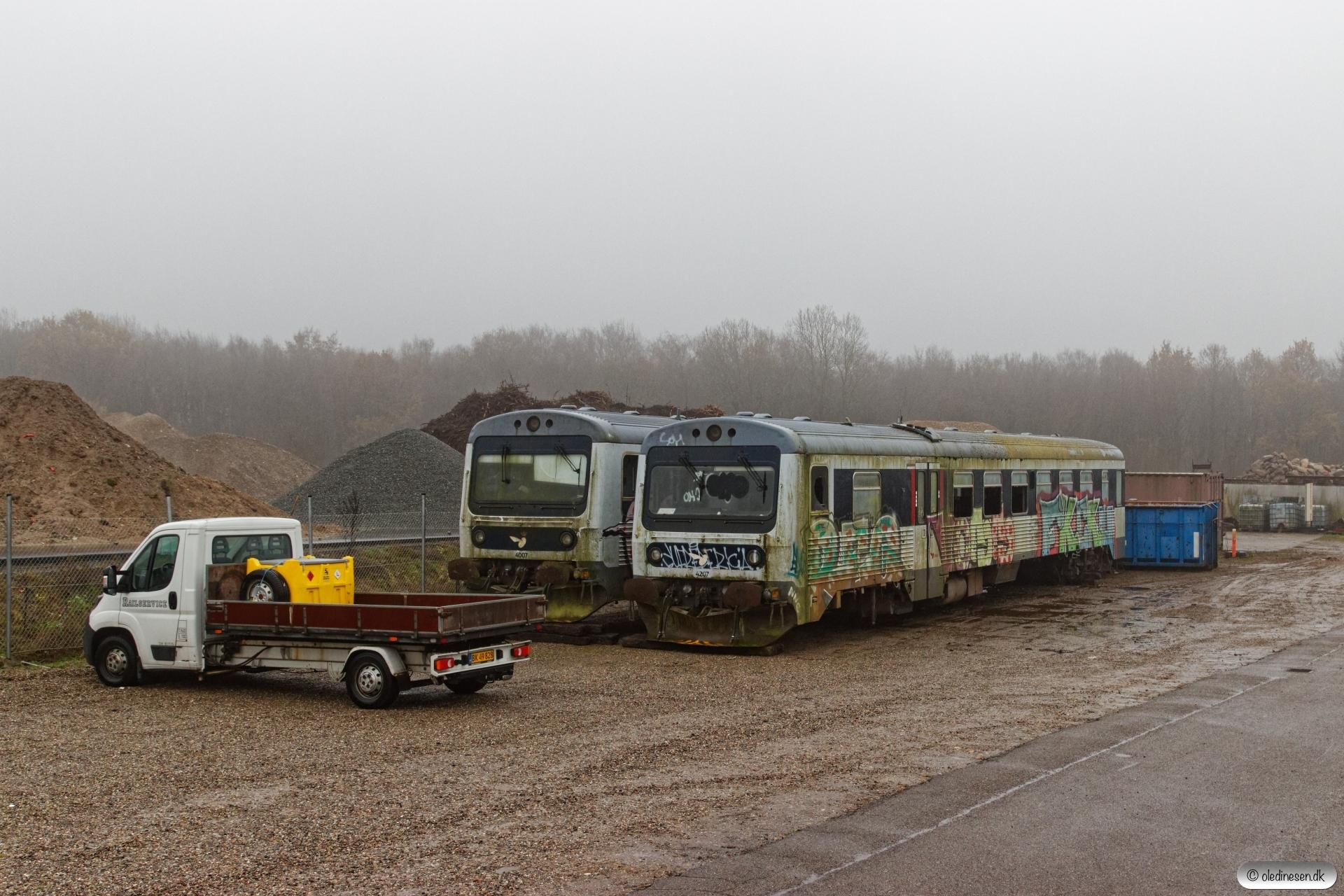 RSEJ MRD 4207 og MR 4007. Rødekro 16.11.2019.
