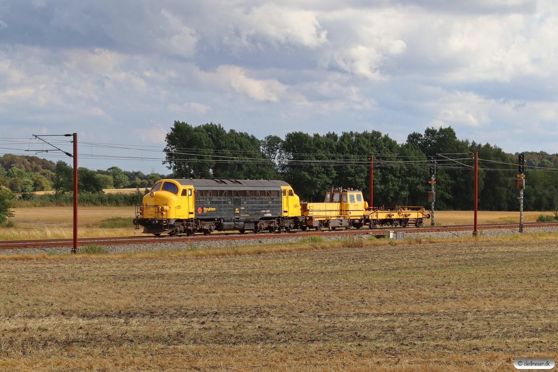 RSEJ MY 1159+DSM 562 som EE 6149 Pa-Hb. Km 57,4 Fa (Sommersted-Vojens) 19.08.2020.