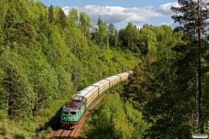 GC Rc4 1255 med GT 4051. Bispgården - Ragunda 13.06.2017.