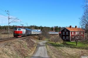 SSRT Rc6 1326 med RST 3993. Iggesund - Boda 02.05.2016.