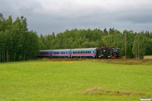 SJ Rc6 1381 med RST 642. Degerfors - Svartå 26.08.2009.