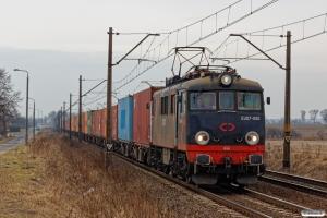 ID EU07-093+containervogne. Kotomierz - Pruszcz Pomorski 03.04.2018.