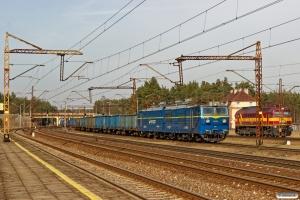 PKPC ET42-019+Eaos/Eanos vogne og RAILP M62M-017. Maksymilianowo 04.04.2018.