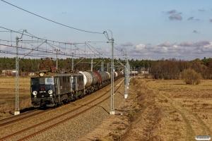 ID EU07-215+EU07-242+36 tankvogne. Prądocin - Nowa Wieś Wielka 05.04.2018.
