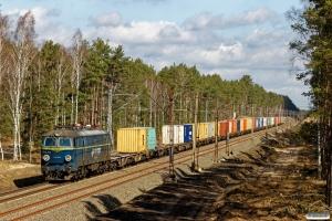 PKPC ET22-872+containervogne. Prądocin - Nowa Wieś Wielka 05.04.2018.