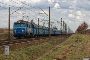PKPC EU07-176 E+26 godsvogne. Złotniki Kujawskie - Nowa Wieś Wielka 05.04.2018.