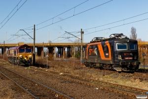 DBSUK 66173 og STK 30E1-014. Poznań Franowo 06.04.2018.