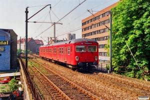 DSB MM 7739+FS 7239. Nørrebro 03.07.1991.
