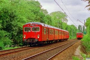 DSB FS 7183+MM 7683 og MM 7648+FS 7148. Godthåbsvej 21.06.1992.