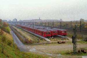DSB MM 7684, MM 7765 og MM 7760. Høje Taastrup 14.11.2000.