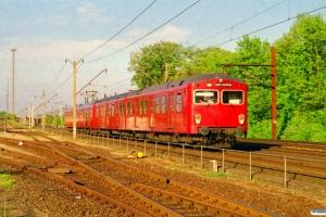 DSB MM 7633+FS 7102+MM 7700+FS 7200. Albertslund 23.05.2001.