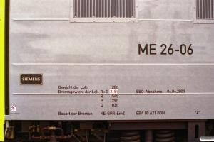 Siemens ME 26-06 (ex. NSB Di6.666). Odense 11.04.2000.