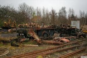 Resterne af Kommunekemi Traktor 124. Skælskør 29.11.2007.