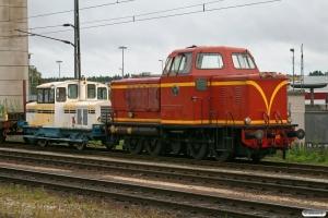 SJ T21 105 og Z49 113. Nässjö 12.09.2010.
