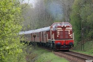 SJ T41 204+9 vogne+DSB MZ 1401 som RST 69005. Båstad S - Grevie 14.05.2010.