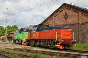 GC T44 339 og Td 373. Hallsberg 06.06.2012.