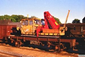 DSB 40 86 943 1 501-6 læsset med Trolje 94. Odense 16.06.1988.