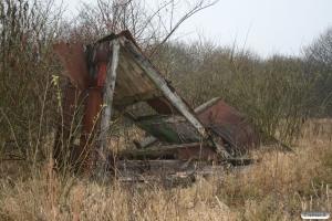 Resterne af DSB Specialvogn 381. Dalmose 29.11.2007.
