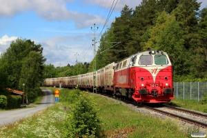 IBAB TMZ 1413 med Spärrfärd. Hissmofors - Östersund 21.06.2018.