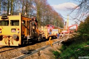 DSB Trolje 226 og MY 1108. Sorø 25.04.1988.