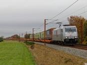 TXL 185 417-5 med TG 38641 Mgb-Pa. Km 54,2 Fa (Sommersted-Vojens) 31.10.2020.