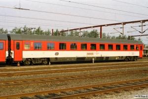 ČD Bmz 73 54 21-91 021-8 (forstærkningsvogn til EC 175). Padborg 25.04.2003.