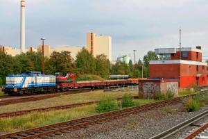 DUD 1402 (ex. DR 110 378)+vogne+HEG V.01. Hamburg-Tiefstack 26.09.2009.