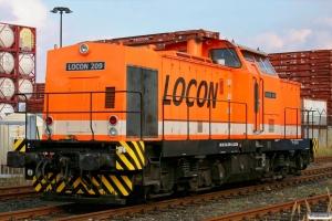 LOCON 209 (ex. DR 110 878). Hamburg-Waltershof 26.09.2009.