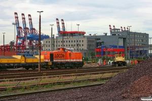 LOCON 211+skærvevogne. Hamburg-Waltershof 28.08.2012.