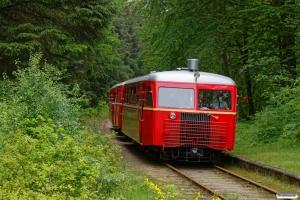 HBS Sm 212+LJ Sb 94+LB Sm 2 med tog til Vrads. Skaaningbro 05.06.2019.