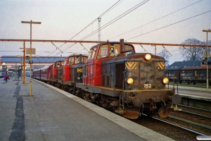 DSB MT 152+MT 161+MT 159+CL 1630+CLE 1672+MO 1848 som MX 8469 Ng-Lk. Odense 04.04.1999.