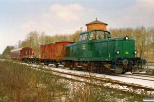 DSB MT 152+OHJ GLM 354+TGT 8991+AU 253 som PM 6416 Lk-Bm. Lunderskov 11.03.2006.